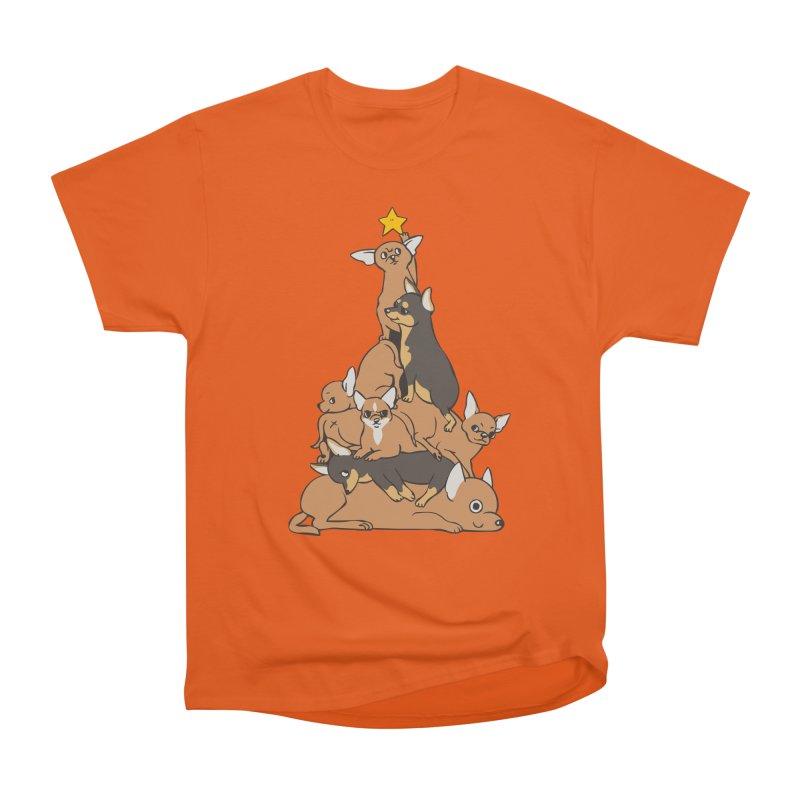 Christmas Tree Chihuahua Women's T-Shirt by huebucket's Artist Shop