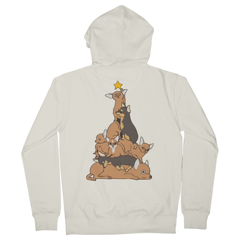 Christmas Tree Chihuahua Women's French Terry Zip-Up Hoody by huebucket's Artist Shop