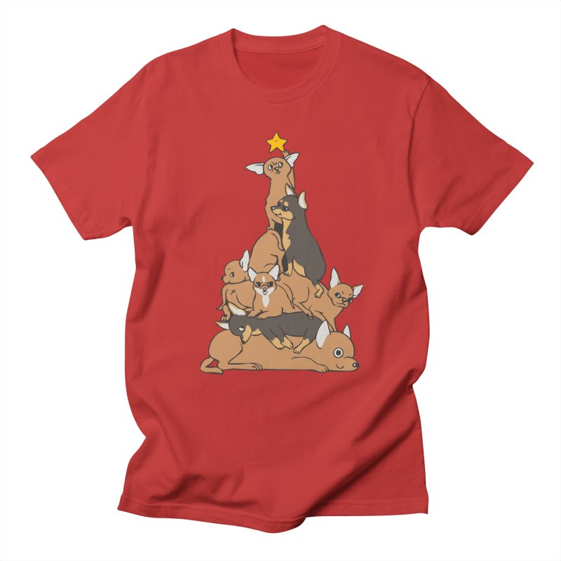 Christmas Tree Chihuahua Women's Regular Unisex T-Shirt by huebucket's Artist Shop