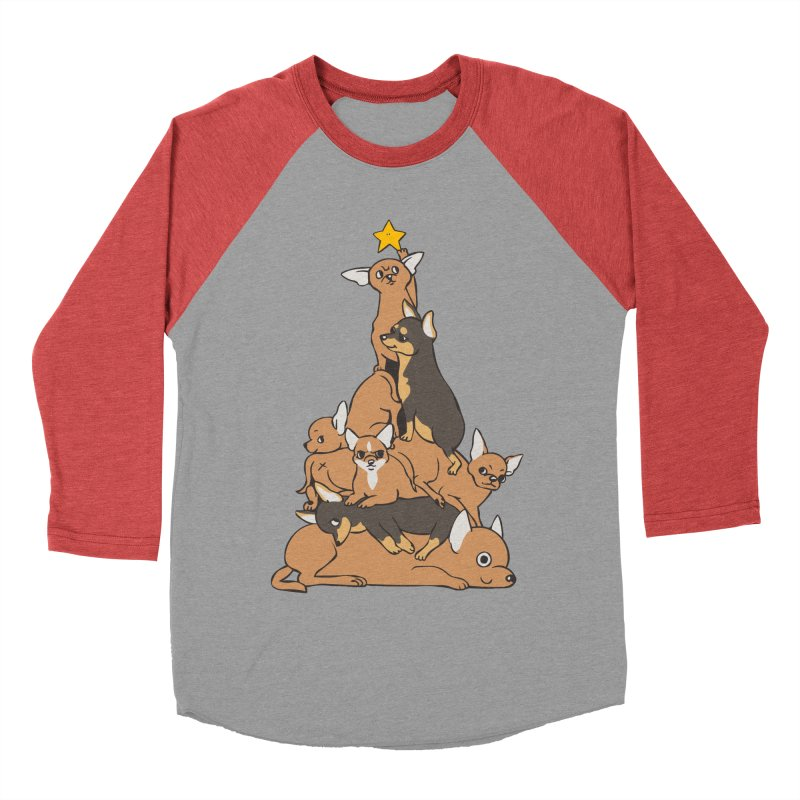 Christmas Tree Chihuahua Women's Baseball Triblend Longsleeve T-Shirt by huebucket's Artist Shop