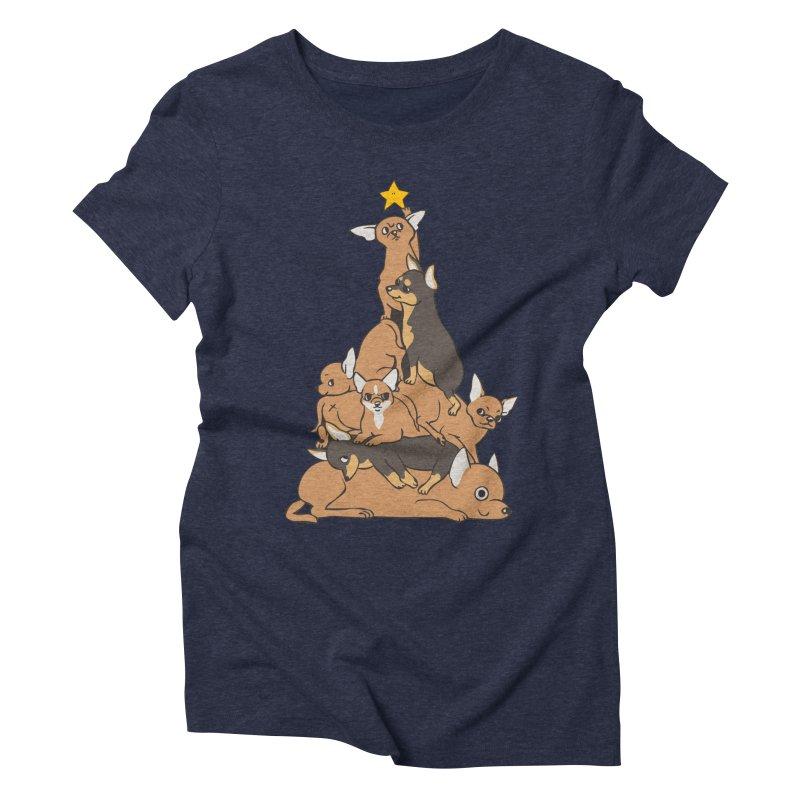 Christmas Tree Chihuahua Women's Triblend T-Shirt by huebucket's Artist Shop