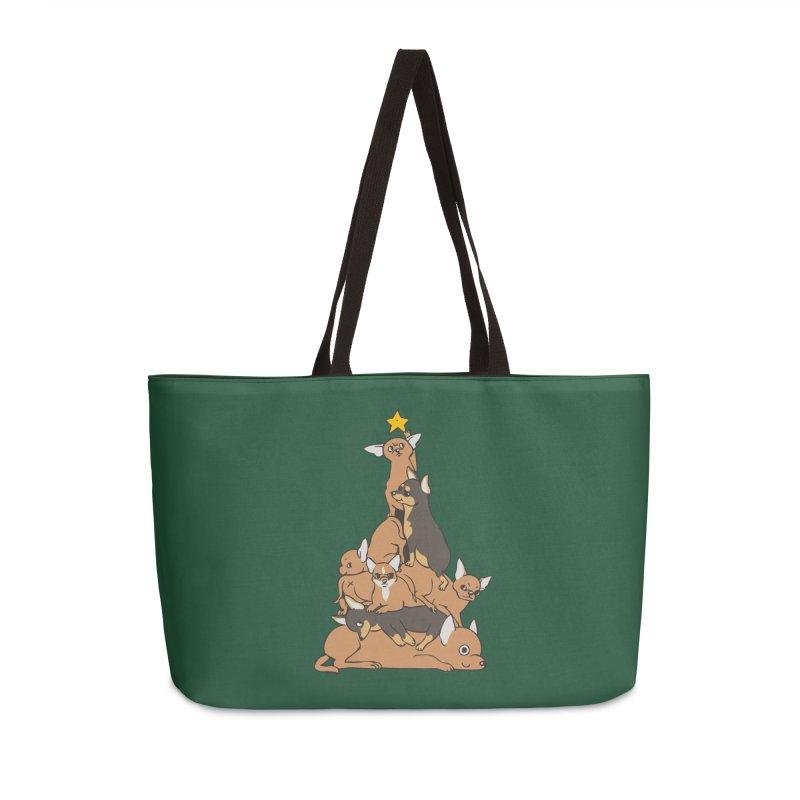 Christmas Tree Chihuahua Accessories Weekender Bag Bag by huebucket's Artist Shop