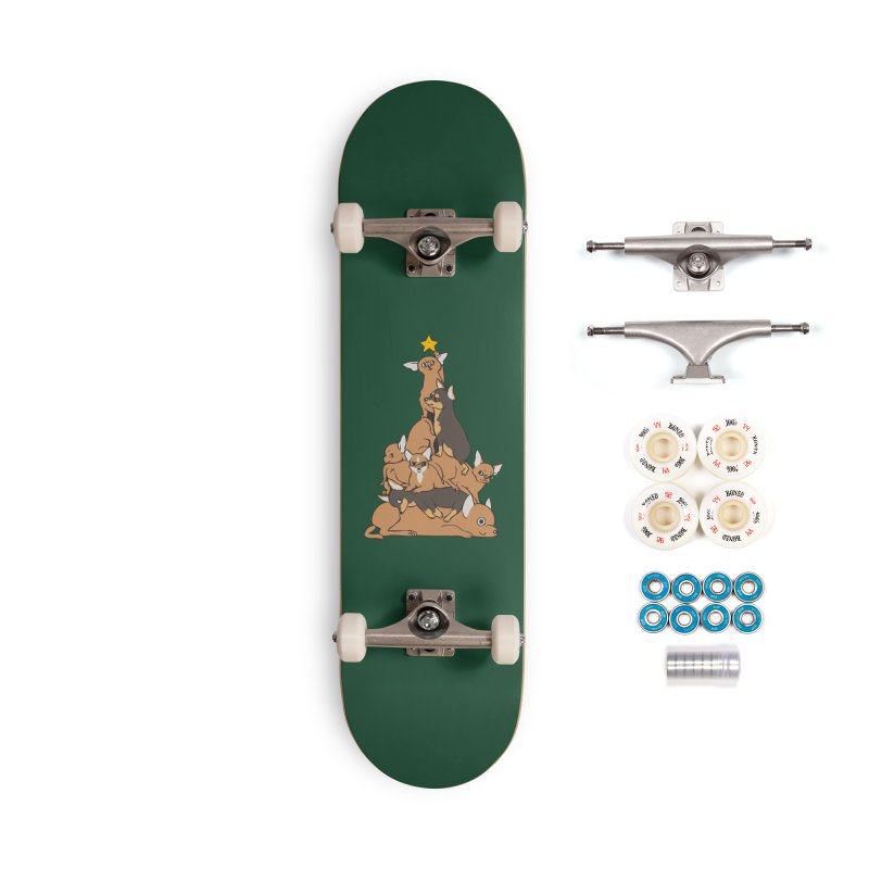 Christmas Tree Chihuahua Accessories Complete - Premium Skateboard by huebucket's Artist Shop