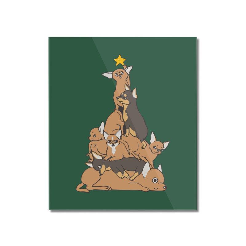 Christmas Tree Chihuahua Home Mounted Acrylic Print by huebucket's Artist Shop