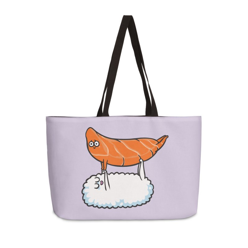 Acroyoga Sushi Accessories Weekender Bag Bag by huebucket's Artist Shop