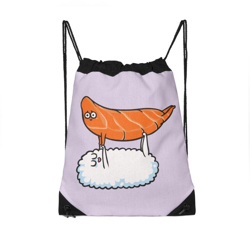 Acroyoga Sushi Accessories Drawstring Bag Bag by huebucket's Artist Shop
