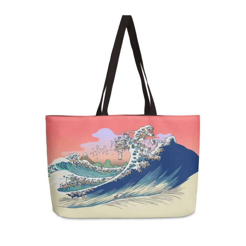 Fuji at Sea of Pugs Accessories Weekender Bag Bag by huebucket's Artist Shop