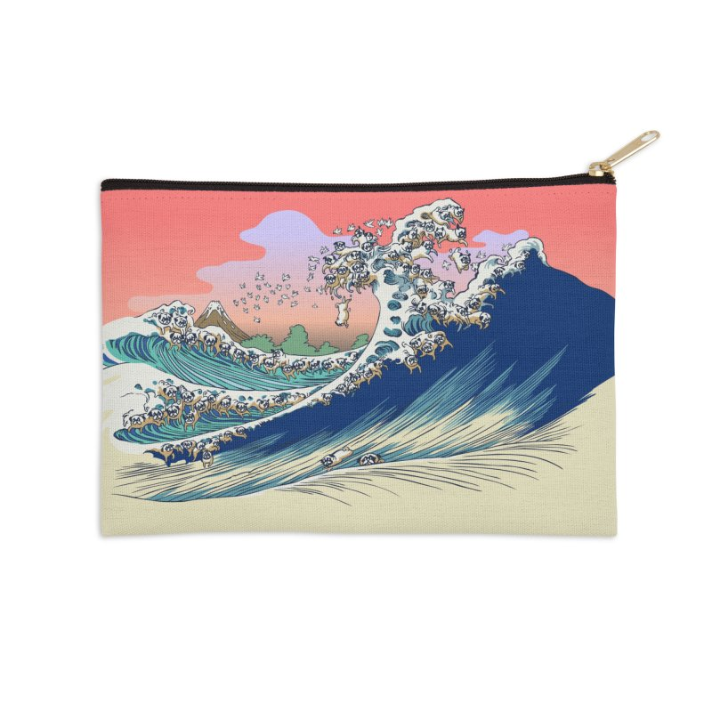 Fuji at Sea of Pugs Accessories Zip Pouch by huebucket's Artist Shop