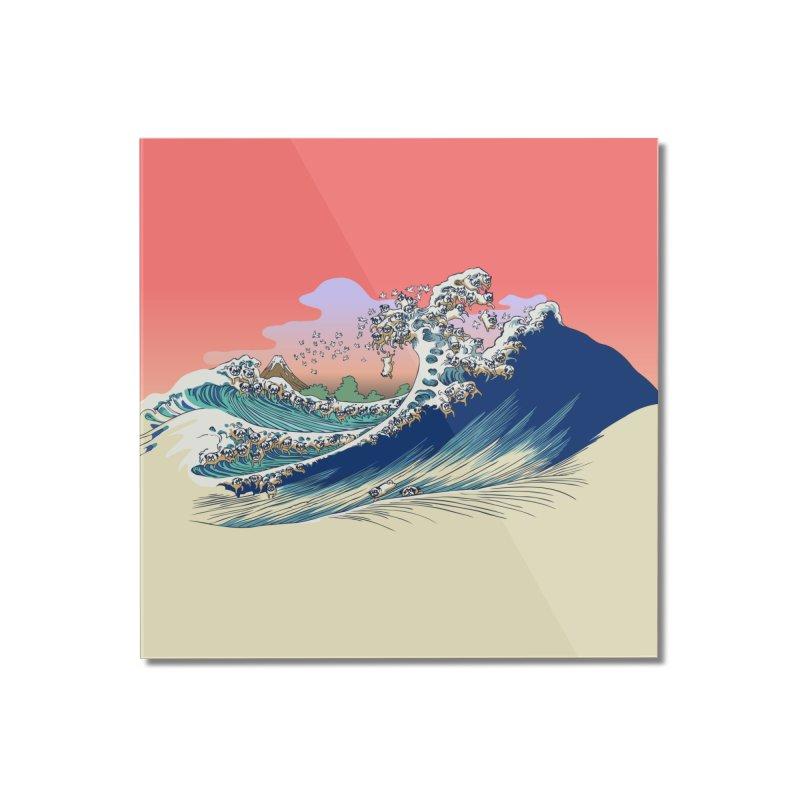 Fuji at Sea of Pugs Home Mounted Acrylic Print by huebucket's Artist Shop
