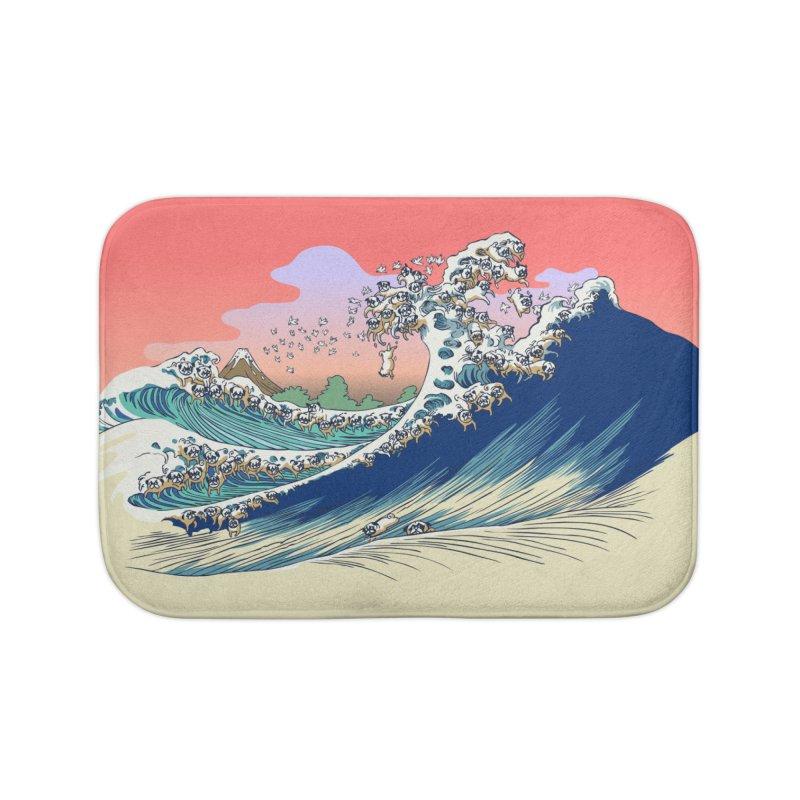 Fuji at Sea of Pugs Home Bath Mat by huebucket's Artist Shop