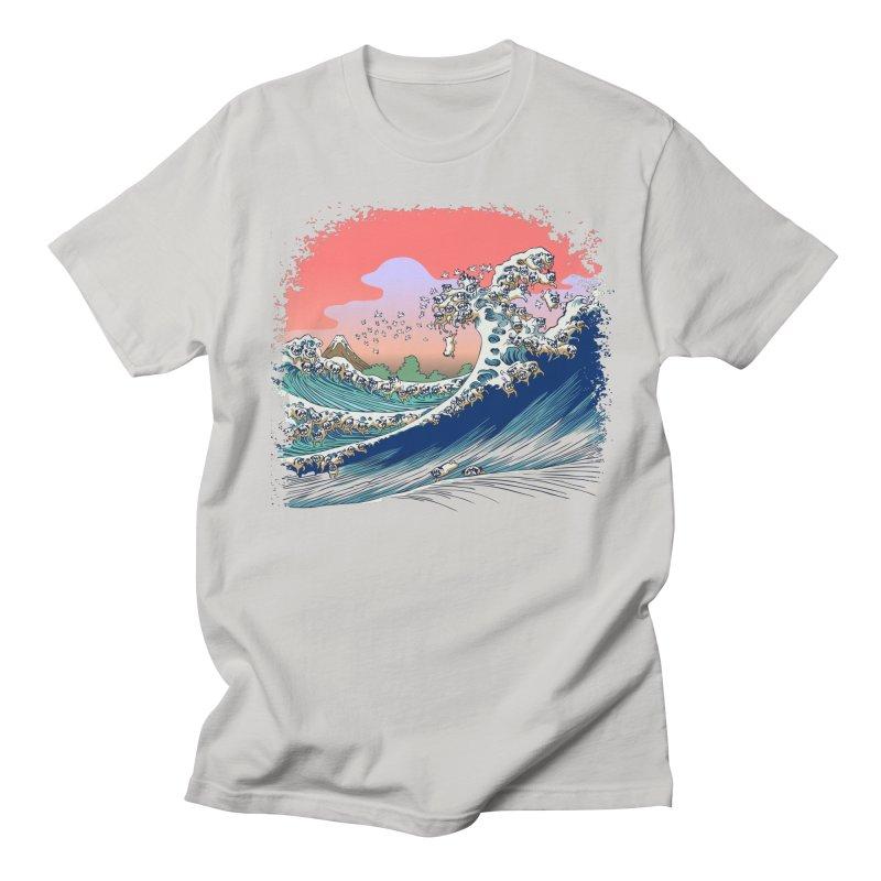 Fuji at Sea of Pugs Men's Regular T-Shirt by huebucket's Artist Shop