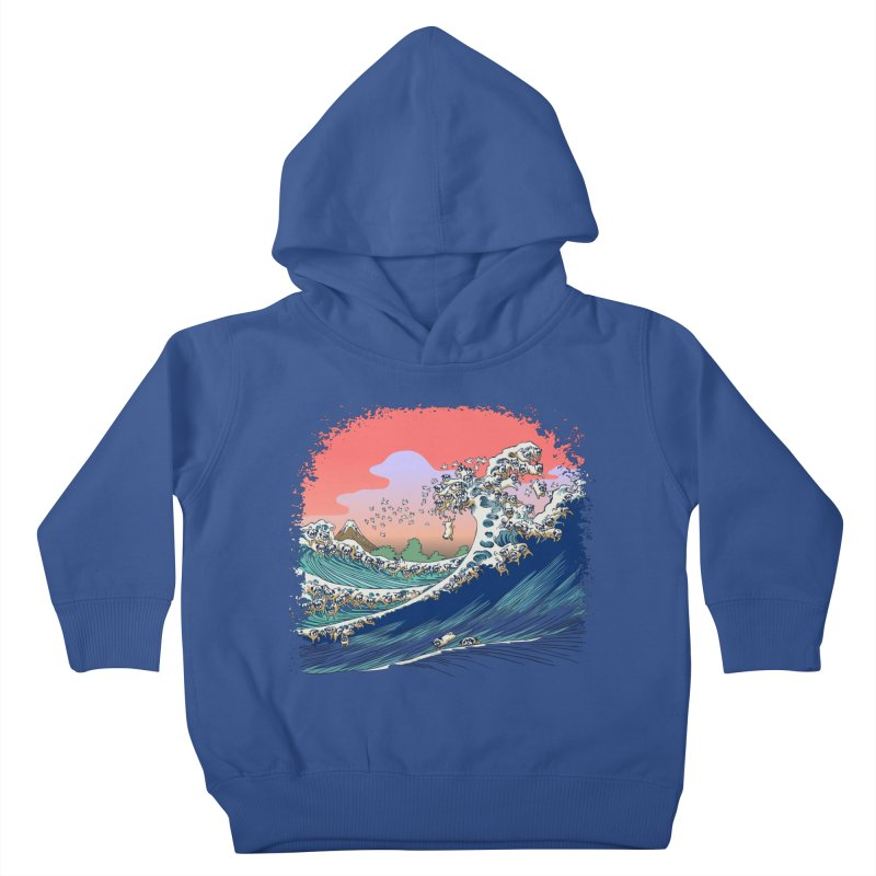 Fuji at Sea of Pugs Kids Toddler Pullover Hoody by huebucket's Artist Shop