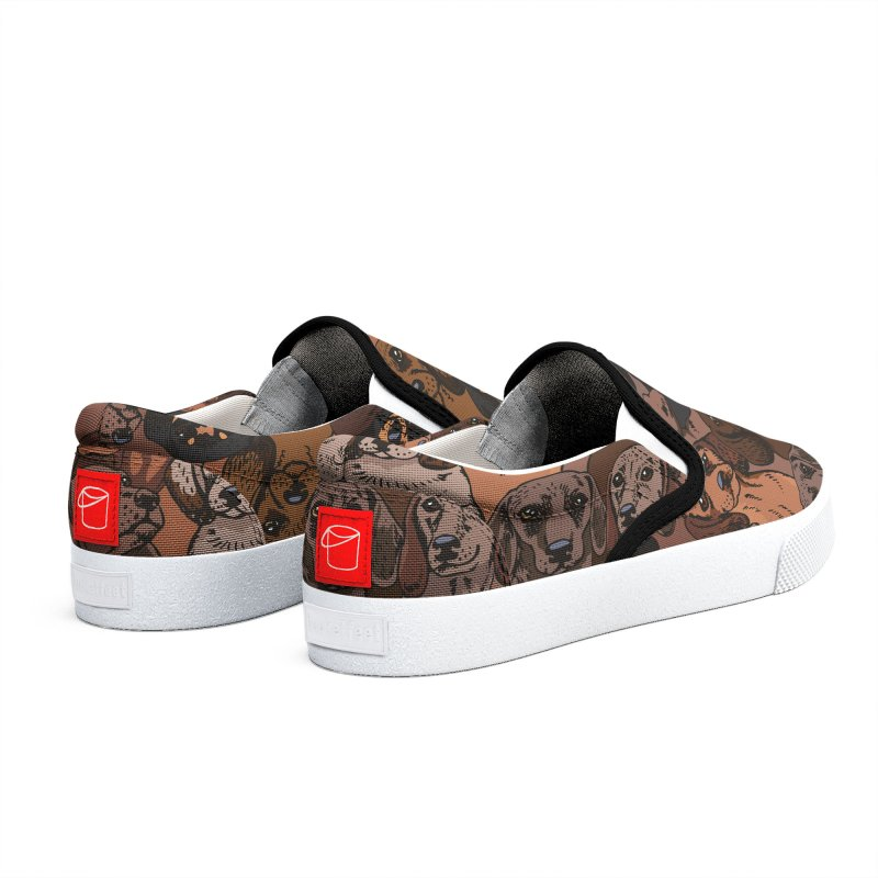 Social Dachshunds Men's Shoes by huebucket's Artist Shop