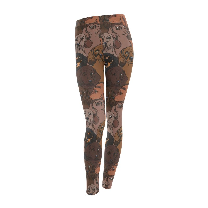Social Dachshunds Women's Bottoms by huebucket's Artist Shop