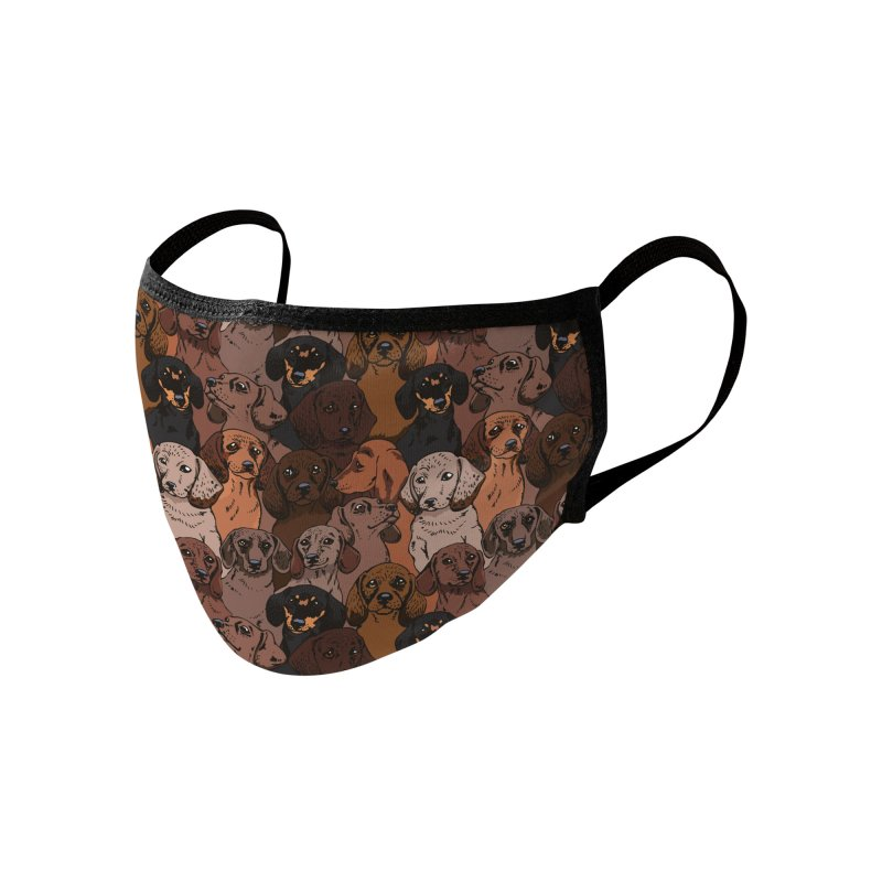Social Dachshunds Accessories Face Mask by huebucket's Artist Shop