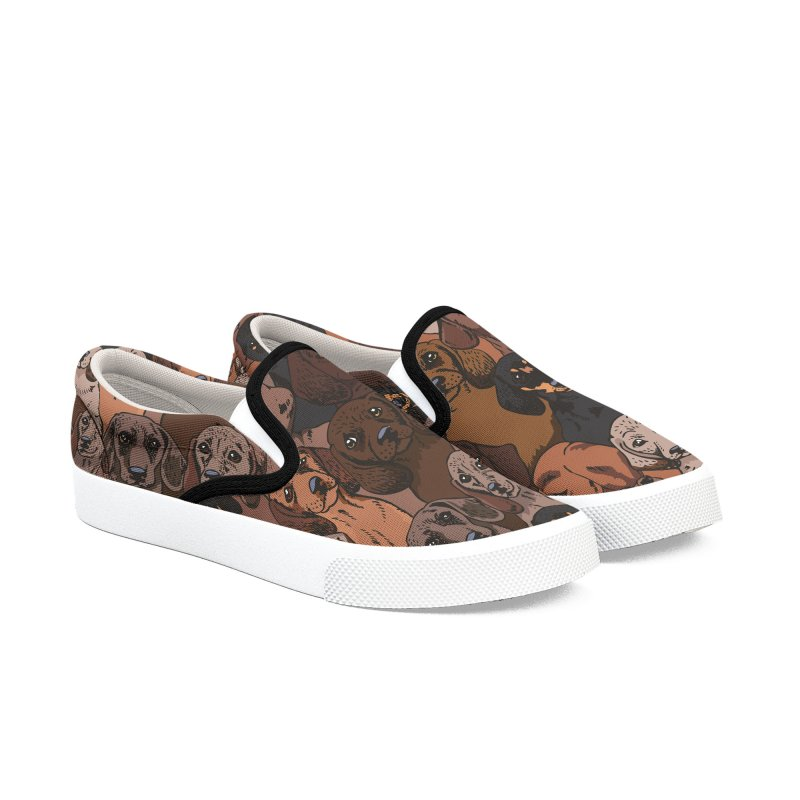 Social Dachshunds Women's Slip-On Shoes by huebucket's Artist Shop