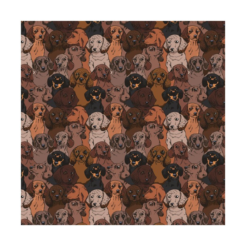 Social Dachshunds Home Fine Art Print by huebucket's Artist Shop