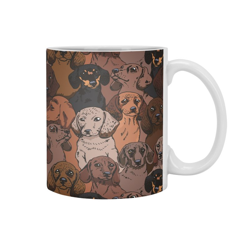 Social Dachshunds Accessories Mug by huebucket's Artist Shop