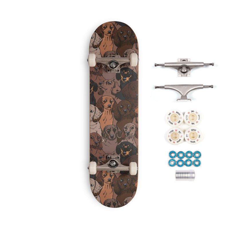 Social Dachshunds Accessories Skateboard by huebucket's Artist Shop