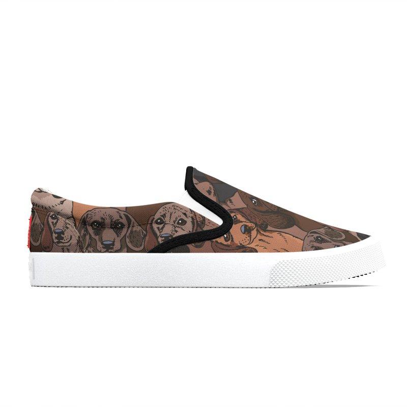 Social Dachshunds Men's Shoes by huebucket's Artist Shop