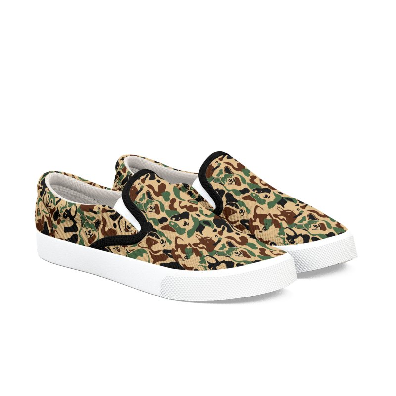 Corgi Camouflage Women's Slip-On Shoes by huebucket's Artist Shop