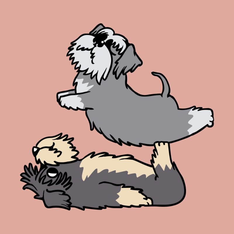 Acroyoga Schnauzer Accessories Skateboard by huebucket's Artist Shop