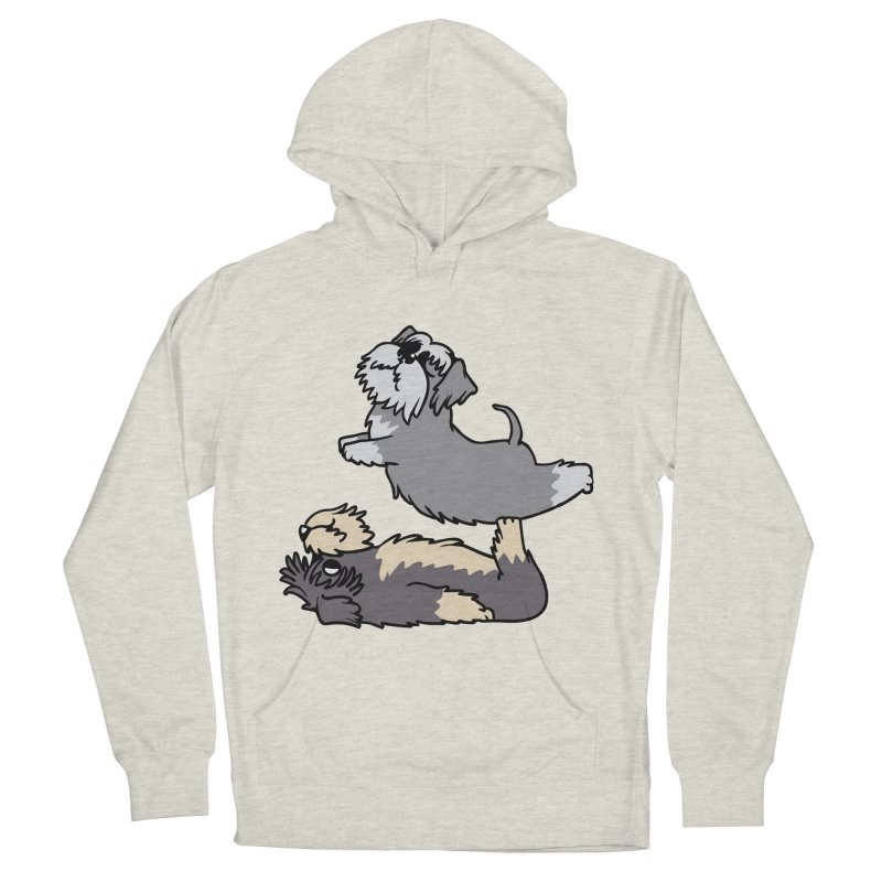 Acroyoga Schnauzer Women's French Terry Pullover Hoody by huebucket's Artist Shop