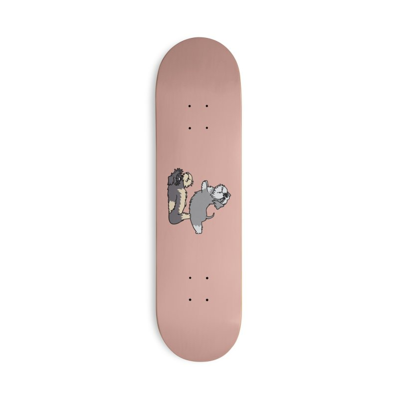 Acroyoga Schnauzer Accessories Skateboard by huebucket's Artist Shop
