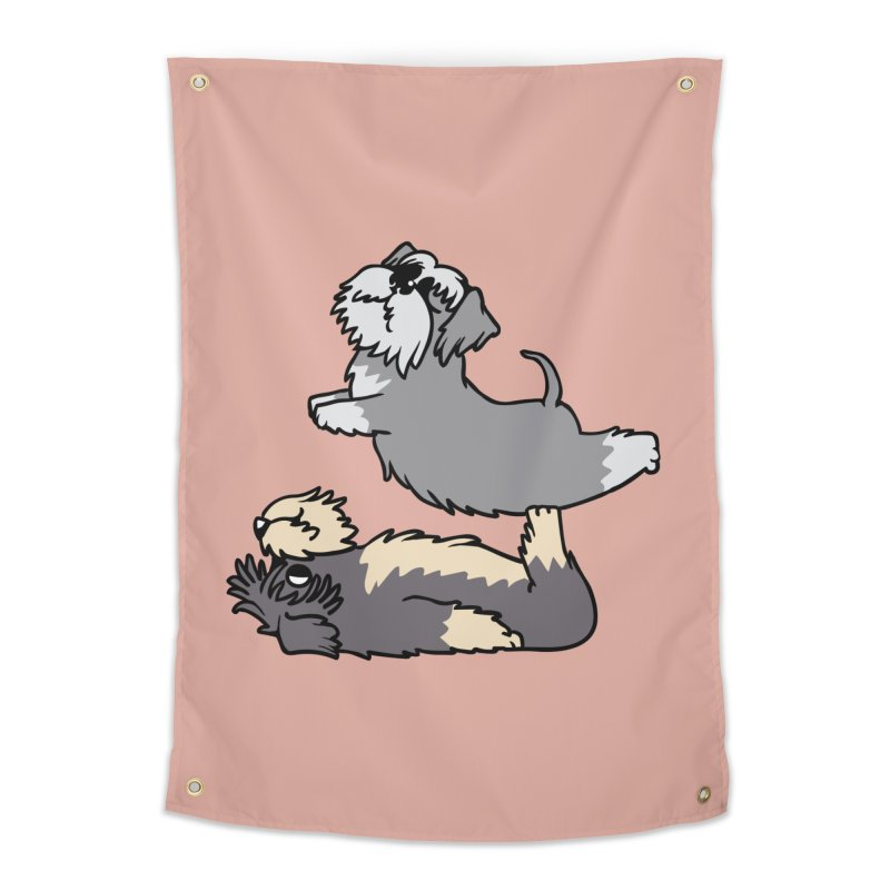 Acroyoga Schnauzer Home Tapestry by huebucket's Artist Shop