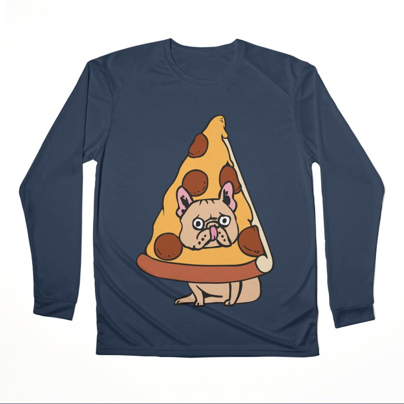 Pizza Frenchie Men's Performance Longsleeve T-Shirt by huebucket's Artist Shop