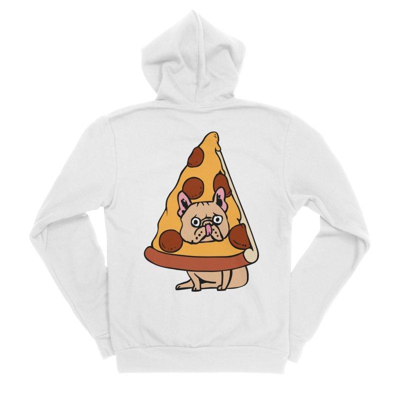 Pizza Frenchie Women's Sponge Fleece Zip-Up Hoody by huebucket's Artist Shop