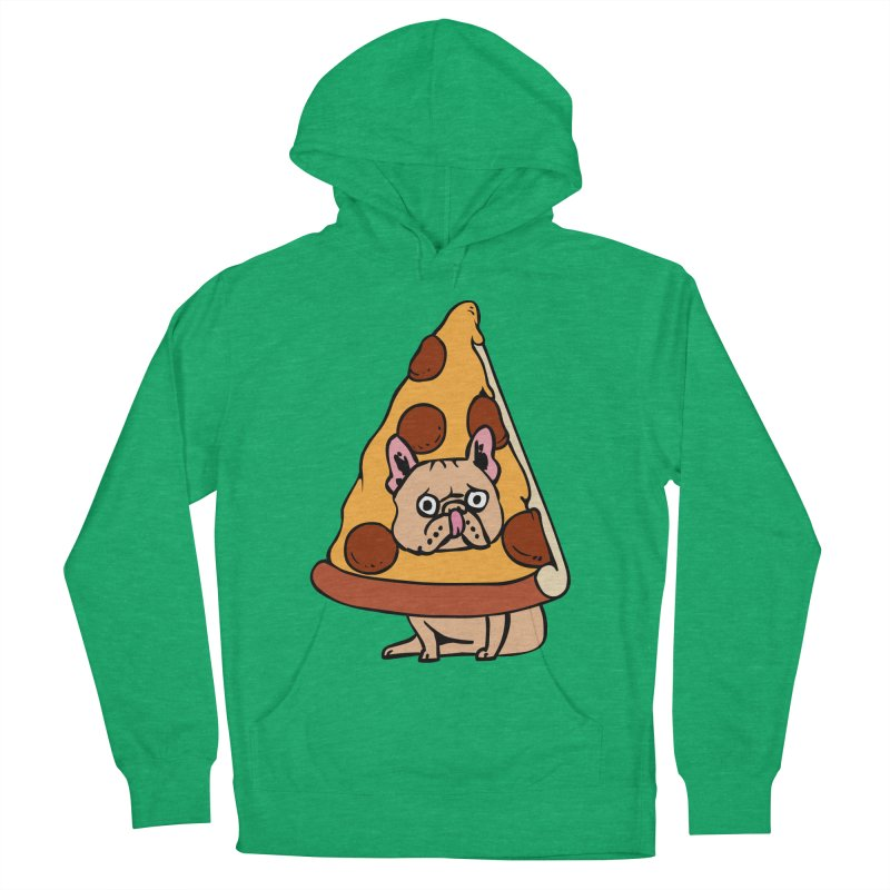 Pizza Frenchie Women's French Terry Pullover Hoody by huebucket's Artist Shop