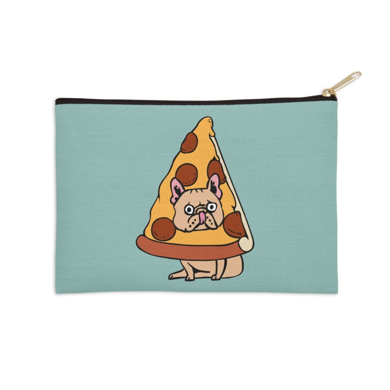 Pizza Frenchie Accessories Zip Pouch by huebucket's Artist Shop