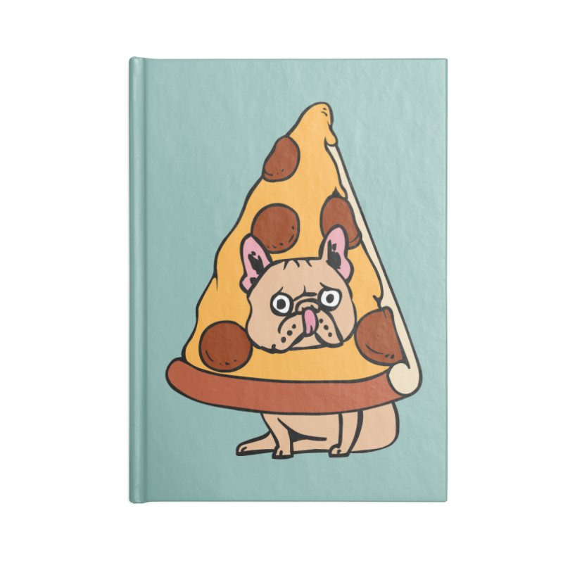 Pizza Frenchie Accessories Lined Journal Notebook by huebucket's Artist Shop