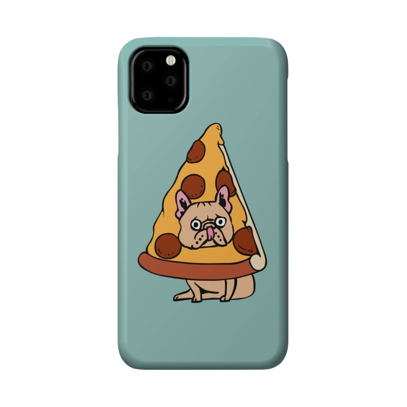 Pizza Frenchie Accessories Phone Case by huebucket's Artist Shop