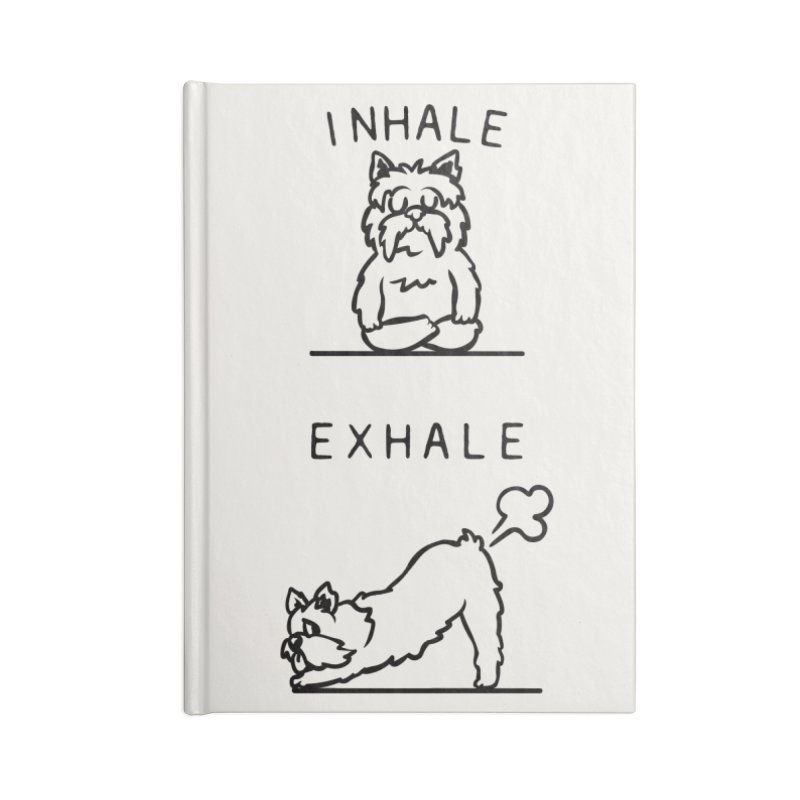 Inhale Exhale Yorkshire Terrier Accessories Lined Journal Notebook by huebucket's Artist Shop