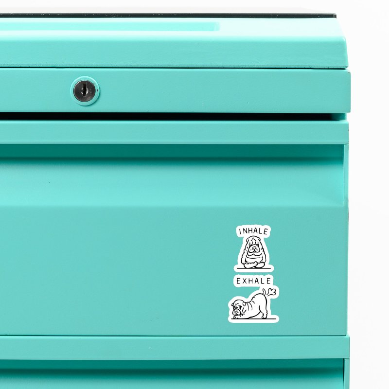 Inhale Exhale Shar Pei Accessories Magnet by huebucket's Artist Shop