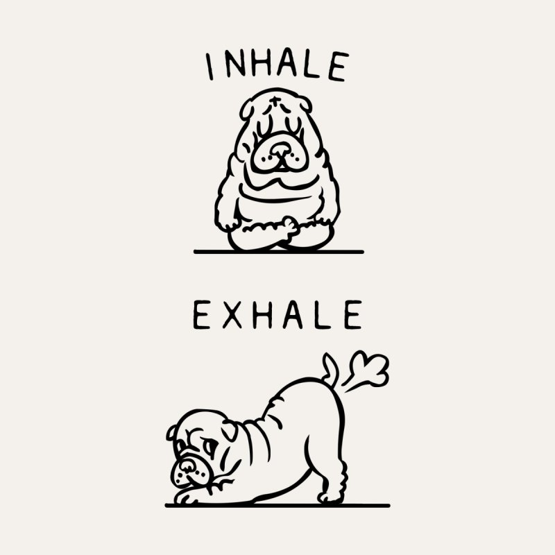 Inhale Exhale Shar Pei Accessories Notebook by huebucket's Artist Shop