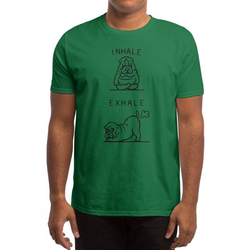 Inhale Exhale Shar Pei Men's T-Shirt by huebucket's Artist Shop