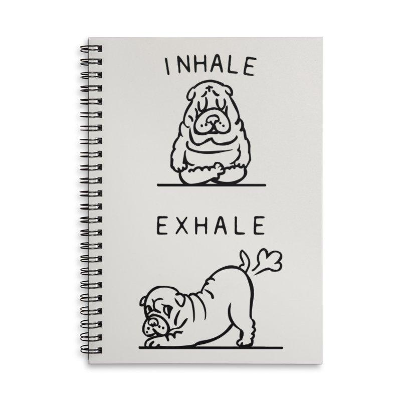 Inhale Exhale Shar Pei Accessories Notebook by huebucket's Artist Shop