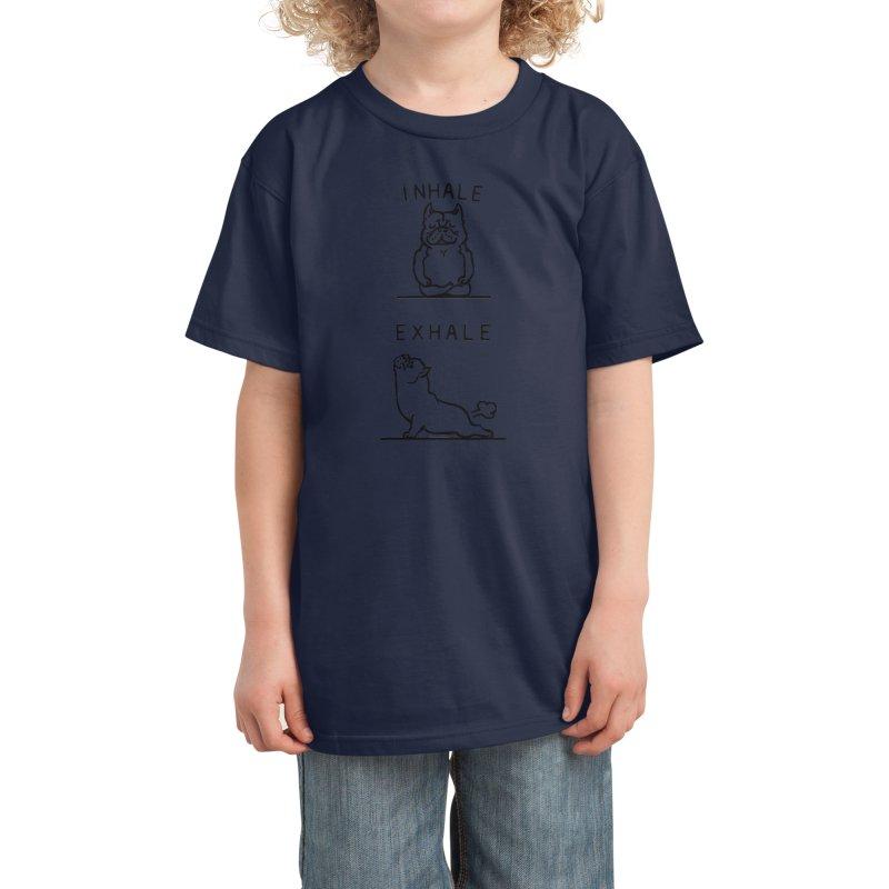 Inhale Exhale American Bully Kids T-Shirt by huebucket's Artist Shop