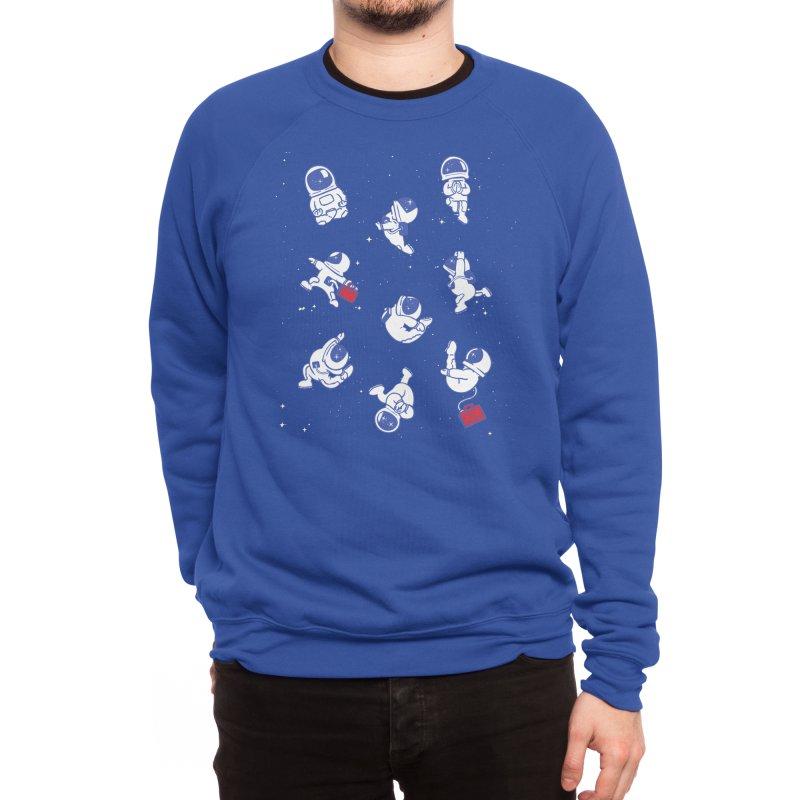 Astronaut Yoga Men's Sweatshirt by huebucket's Artist Shop