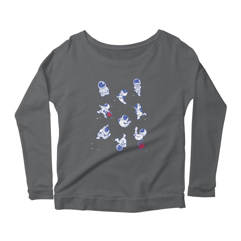 Astronaut Yoga Women's Longsleeve T-Shirt by huebucket's Artist Shop