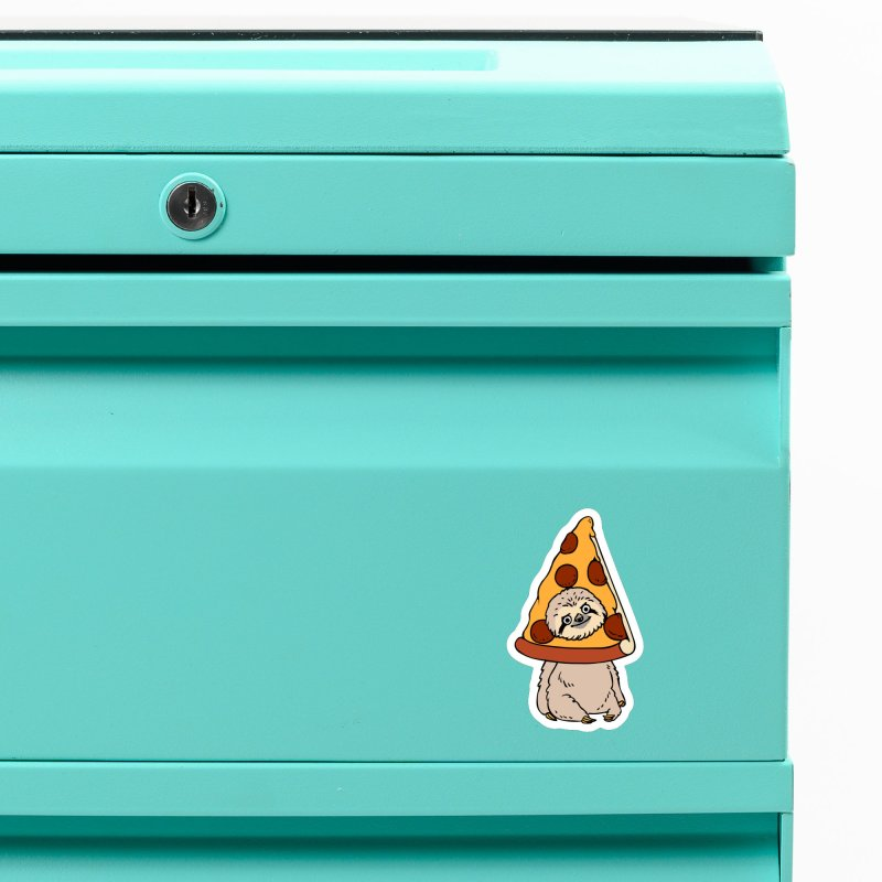 Pizza Sloth Accessories Magnet by huebucket's Artist Shop