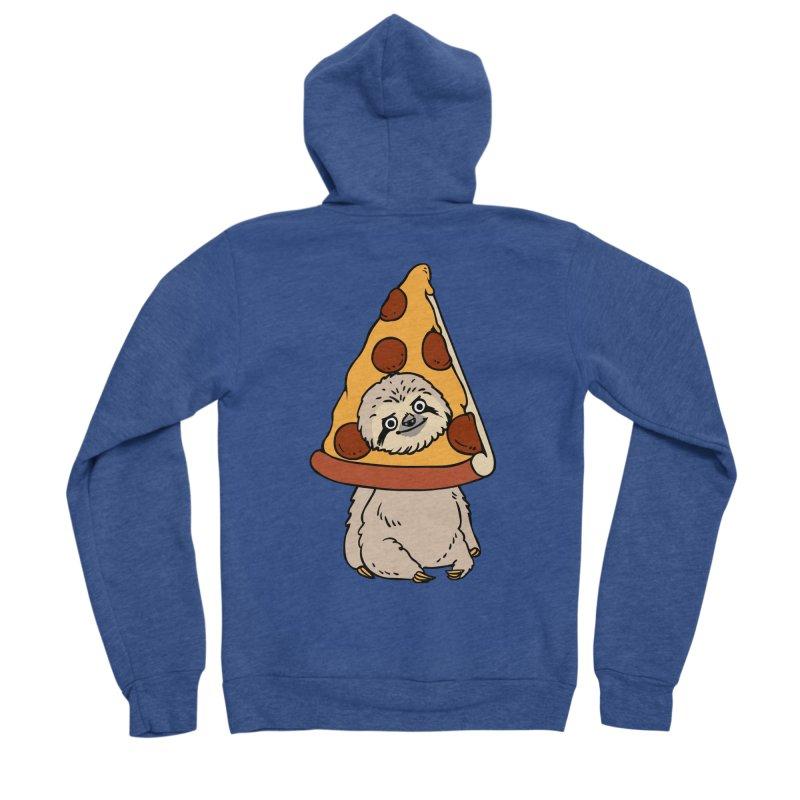 Pizza Sloth Women's Sponge Fleece Zip-Up Hoody by huebucket's Artist Shop