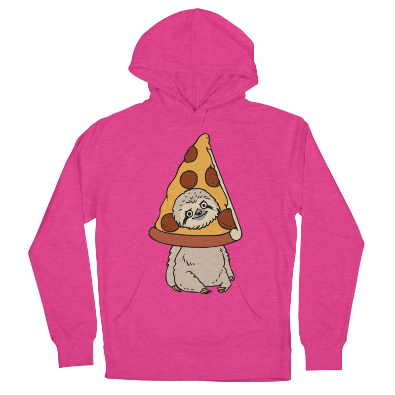 Pizza Sloth Women's French Terry Pullover Hoody by huebucket's Artist Shop