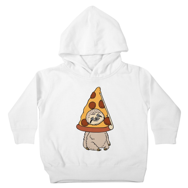 Pizza Sloth Kids Toddler Pullover Hoody by huebucket's Artist Shop