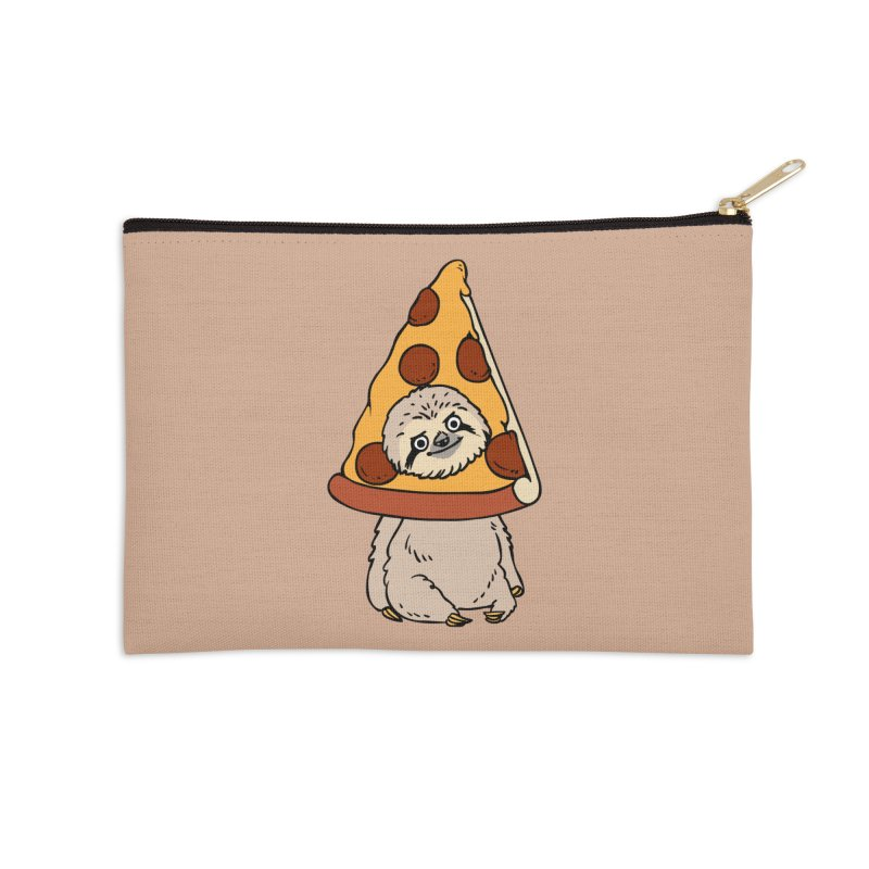 Pizza Sloth Accessories Zip Pouch by huebucket's Artist Shop
