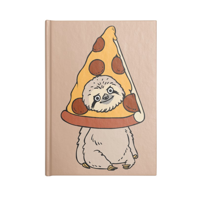 Pizza Sloth Accessories Lined Journal Notebook by huebucket's Artist Shop