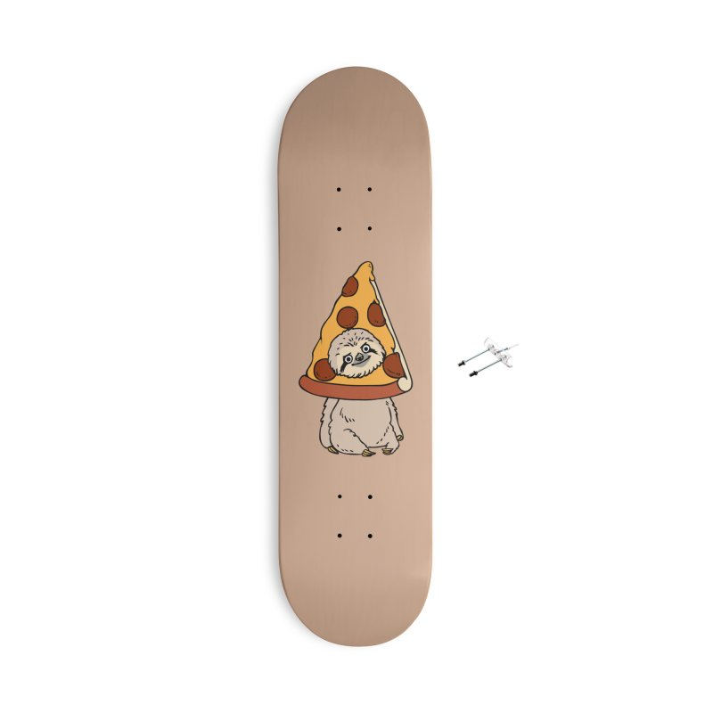 Pizza Sloth Accessories With Hanging Hardware Skateboard by huebucket's Artist Shop